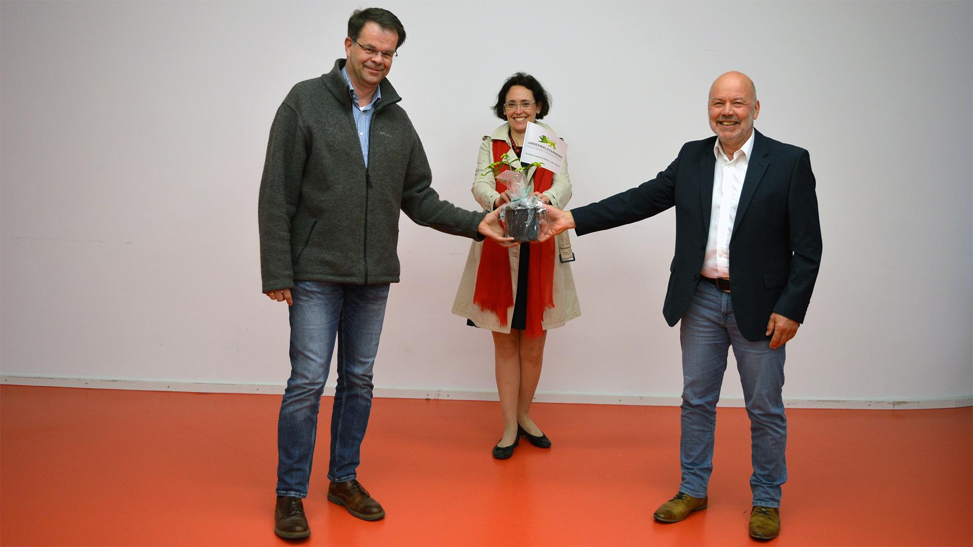 ANW Mitglied im LWV Odile Bour Dietmar Hellmann Christian Beck