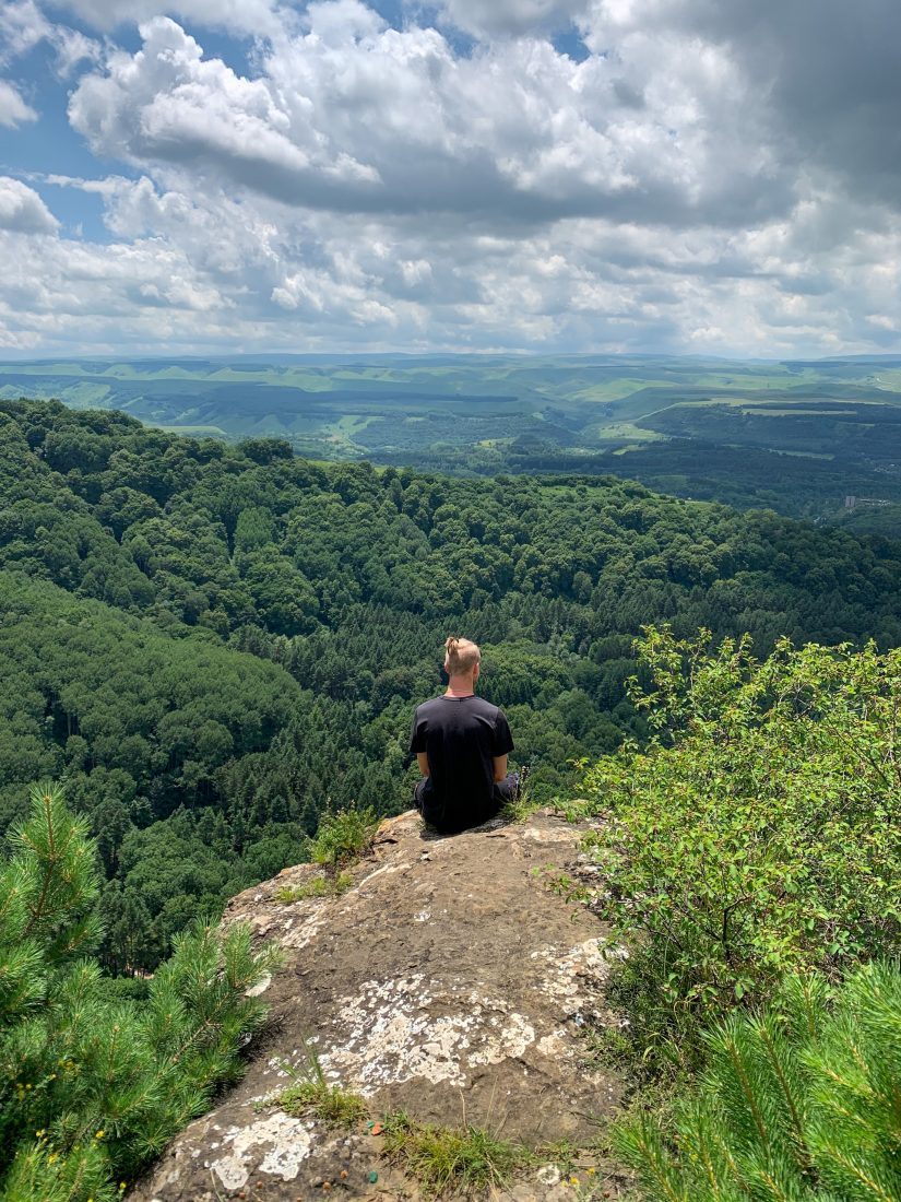 Wald Wanderung Ausblick Panorama